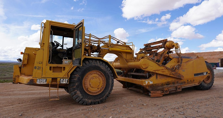 Major Heavy Equipment Used by a Road Work Company
